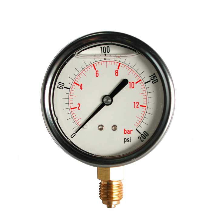 PG-GVNF - 63mm to 100mm Dial Stainless Steel Cased Glycerine Filled Pressure Gauge