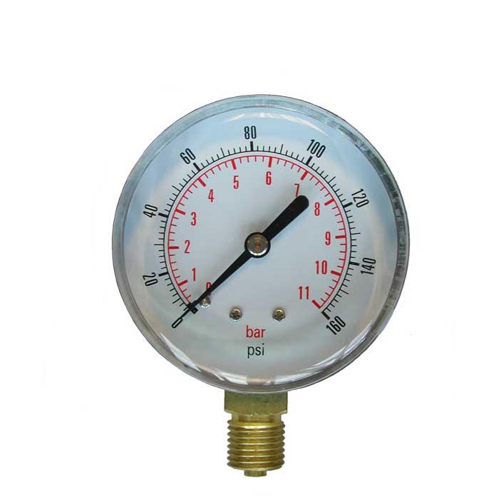 PG-VNF - 40/50/63mm Dial Steel Cased, Bottom Entry, Free Standing Pressure Gauge