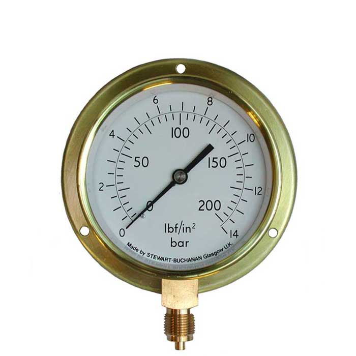 PG-VBF - 80mm to 150mm Dial Brass Cased Traditional  Pressure Gauge