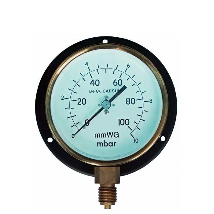 PG-LVBF - 100mm Dial Steel Cased Capsule Low Pressure Gauge