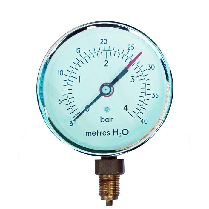 PG-ALT - 100mm to 150mm Dial Steel Cased HVAC Altitude Pressure Gauge