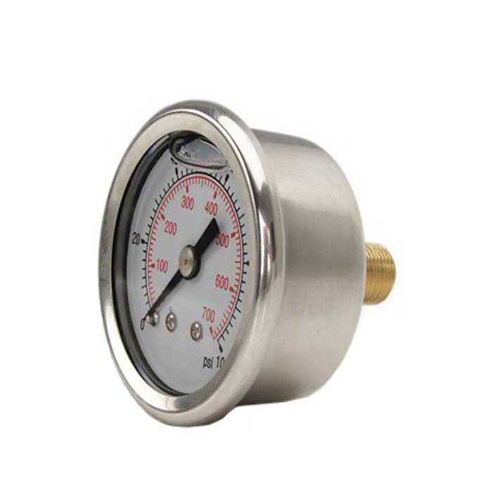 PG-BENF - 63/100mm Dial Glycerine Filled Stainless Steel Cased, Back Entry, Direct Mounting Pressure Gauge