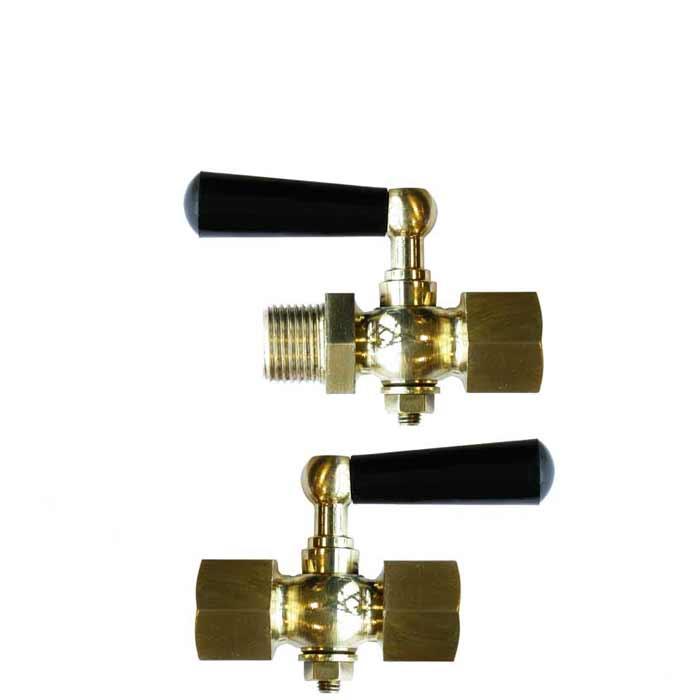 123 - Brass Pressure Gauge Isolation Cocks