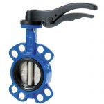 JV101007 – Ductile Iron Wafer Butterfly Valve, Viton Lined