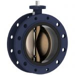 JV36N – Marine Ductile Iron Double Flange Butterfly Valve, NBR Lined - JIS F7480 Length