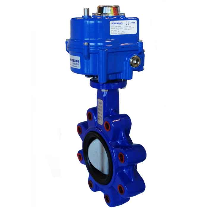 JV240043 – Electrically Actuated Lugged Butterfly Valve, Viton Lined