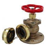JV120006 - Bronze Angled Fire Hydrant Landing Globe Valve - Storz