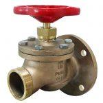 JV120009 - Marine Bronze Straight Fire Hydrant Landing Globe Valve - BSP or NST
