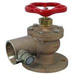 JV120010 - Marine Bronze Angled Fire Hydrant Landing Globe Valve -BS 336 Instantaneous
