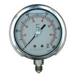 PG-GVBF - 100mm to 250mm Dial Stainless Steel Cased Glycerine Filled Pressure Gauge